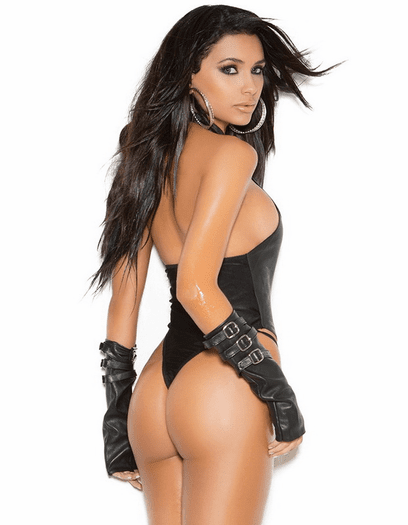 Leather Love Sexy Buckle Teddy