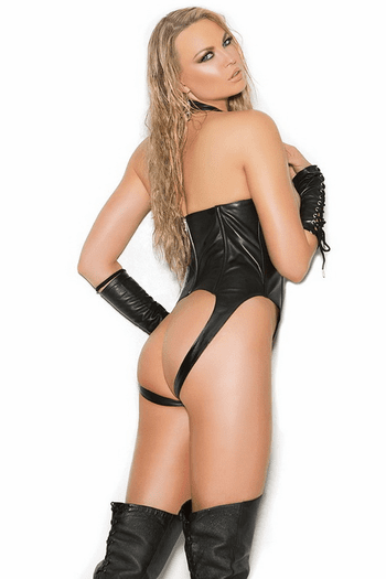Leather Open Cup Teddy