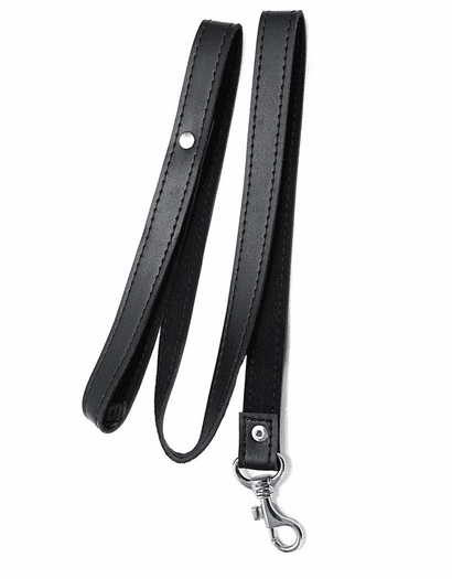 Leather Serious BDSM Leash
