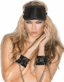 Leather Wrist Restraints & Detachable Chain