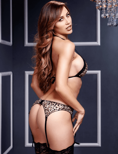 Leopard Lace Bra, Garter Belt & G-String Set