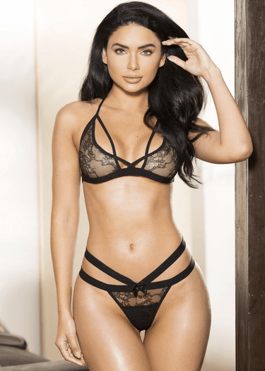 Let's Wait Awhile Lace Bralette & Panty Set