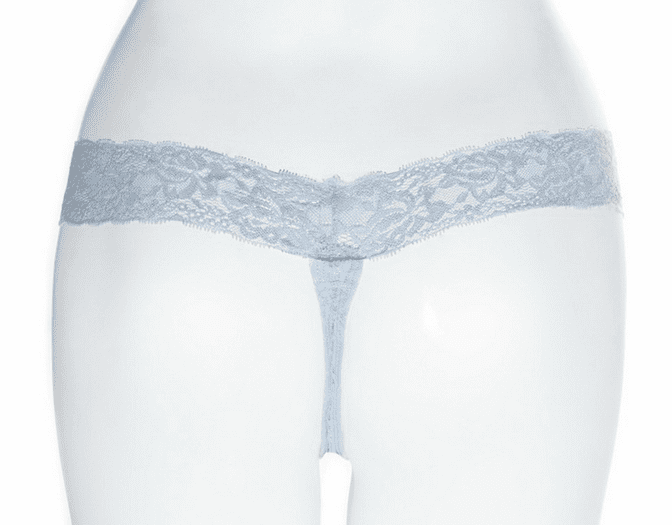 Light Blue Bombshell Lace Thong