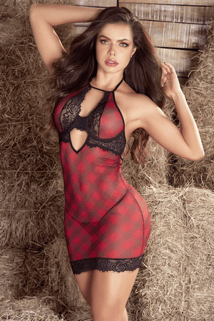 Like What You See Plaid Chemise