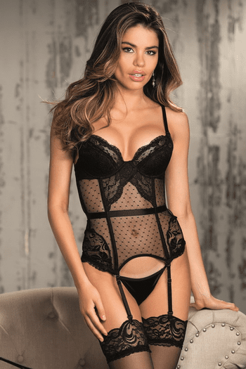 Live To Tell Lace Bustier & G-String Set