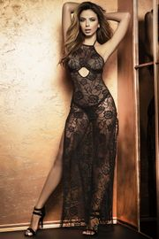 Long Lace Underwire Nightgown