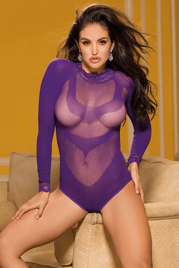 Long Sleeve Mesh Teddy
