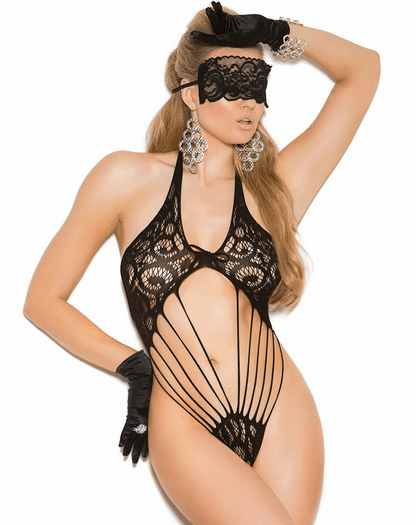 Lost In Love Lace Teddy & Mask Set