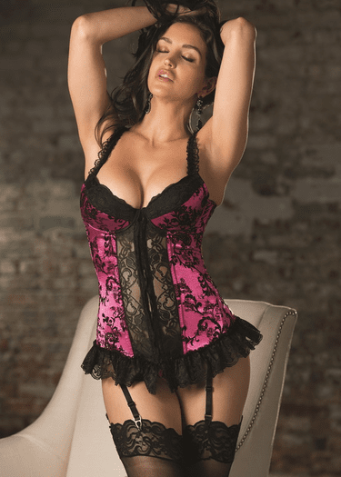 Lost In The Moment Bustier & G-String Set