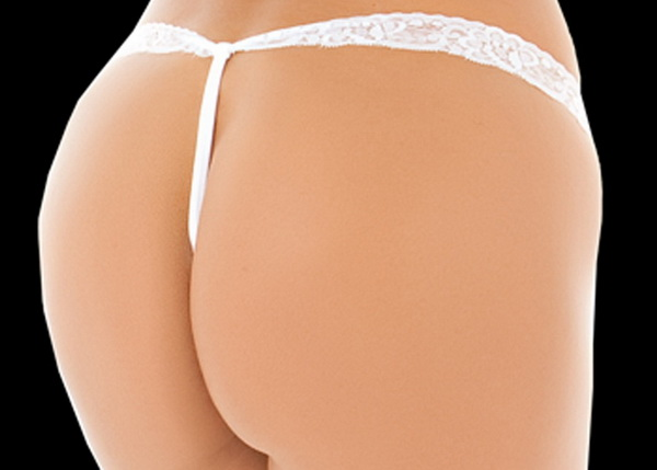Love And Lace Crotchless Thong