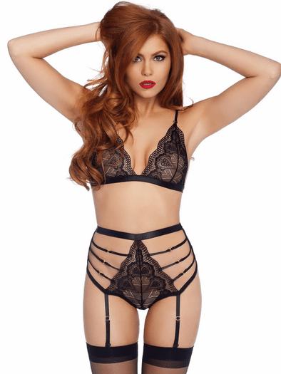 Love Me Lustly Lace Bralette & Thong Set