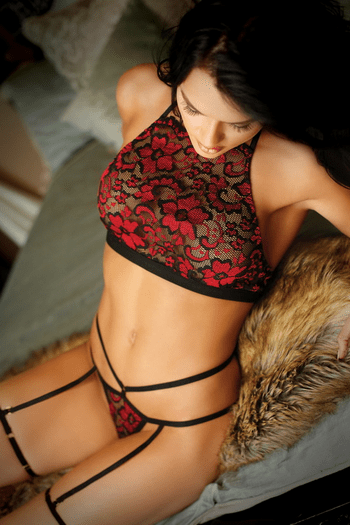 Love Potion Lace Bralette & Garter Panty