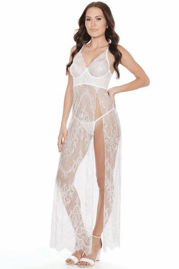 Love You Always White Lace Gown