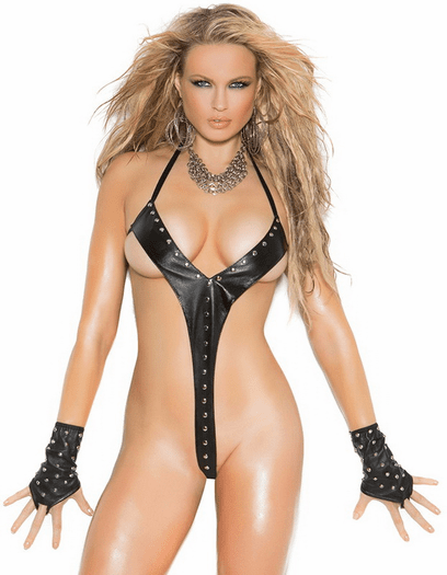 Lovely In Leather Sexy Teddy