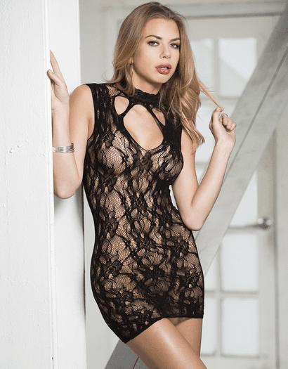 Lovely Lace High Neck Chemise