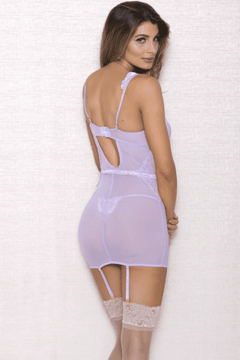 Lovely Lavender Chemise & G-String Set