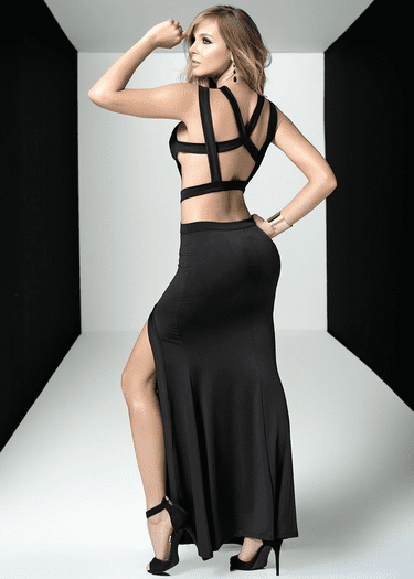 Lovely Strappy Black Gown