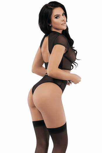Lustful Pastime Crop Top & High Waisted Panty Set