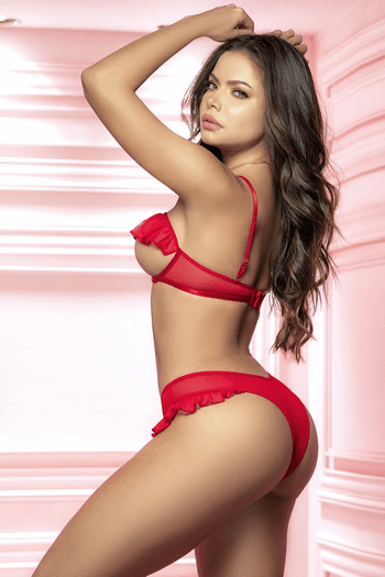 Red Open Cup & Open Crotch Set