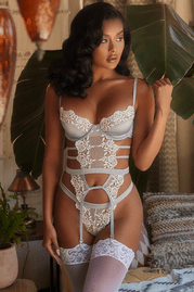 Marry Me Embroidered Bustier Set