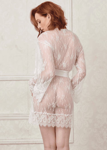 Meet Me Upstairs Eyelash Lace Robe