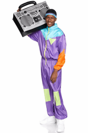 Men's Awesome 80's Track Suit Costume