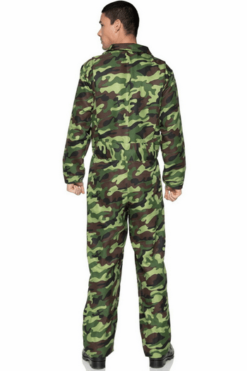 Men's Camo Jumpsuit Costume