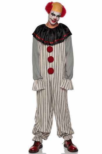 Men's Creepy Clown Costume