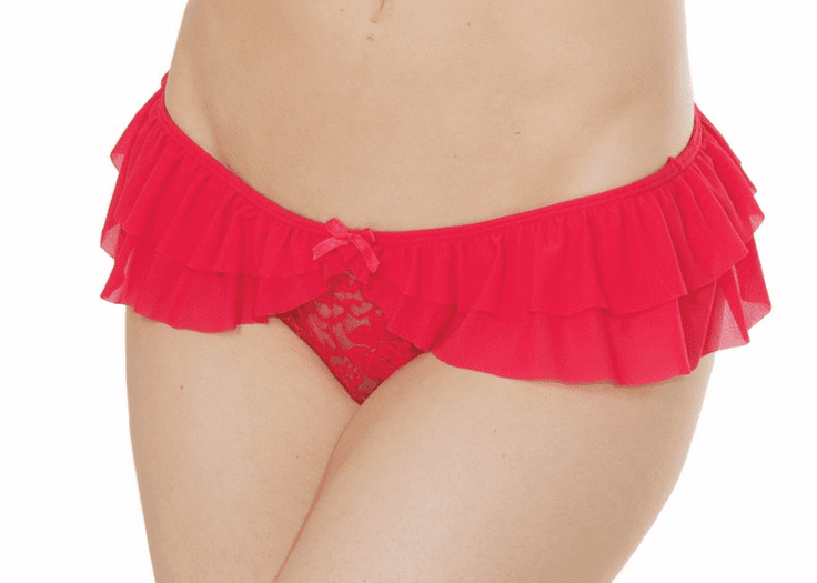 Mesh Crotchless Panty