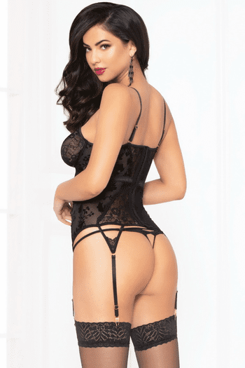 Mesh & Lace Bustier Set
