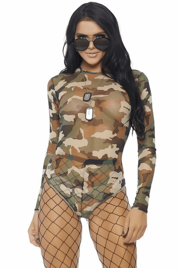 Mesh Long Sleeve Bodysuit