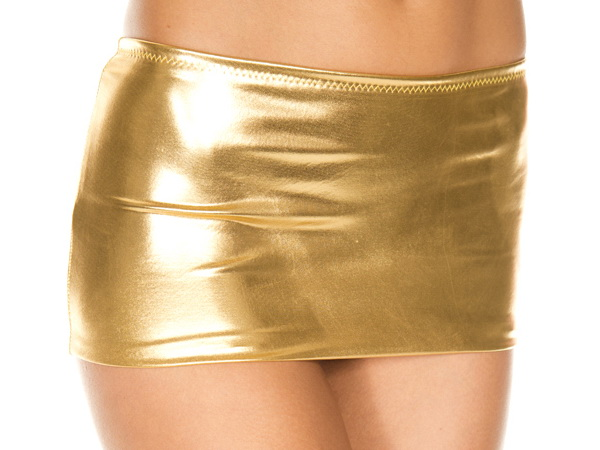 Metallic Babe Sexy Mini Skirt