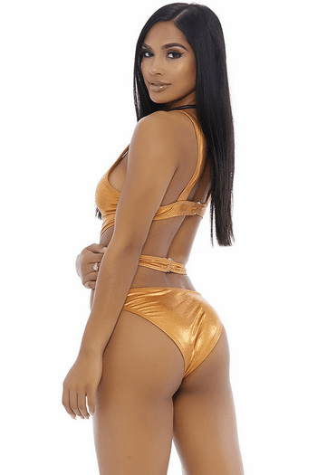 Metallic Cut Out Monokini