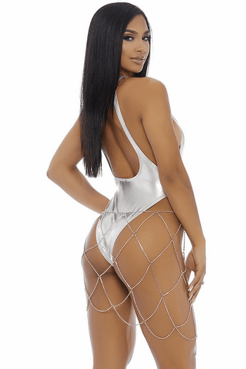 Metallic Open Back Monokini