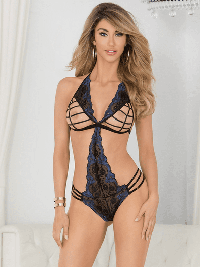Midnight Evenings Strappy Cupped Teddy