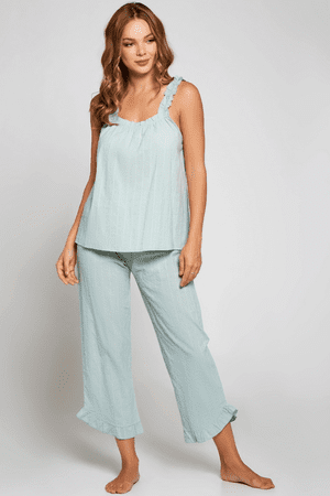 Mint Claire Cotton Pajamas Set