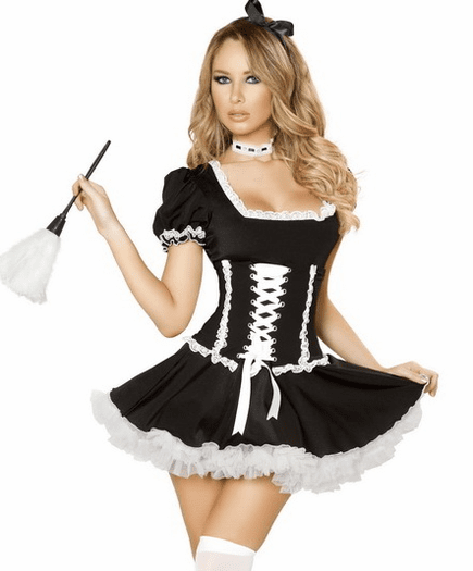 Black Mischievous Maid Sexy Costume