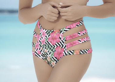 Mix And Match Fun In The Sun High Waist Bikini Bottom
