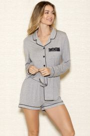 Modal Button Down Short Set