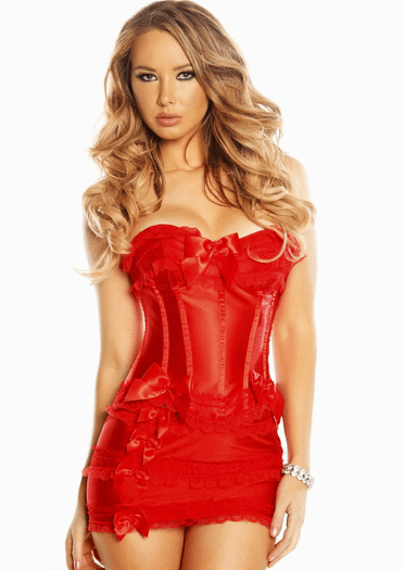 Must  Have Red Corset Skirt Set