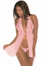 My Adorable Lace Babydoll & G-String Set