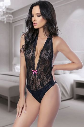 Mysterious Love Lace Teddy