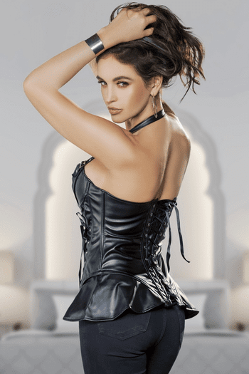 Mysteriously Sexy Leather Corset