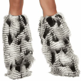 Native Fur Leg Warmers