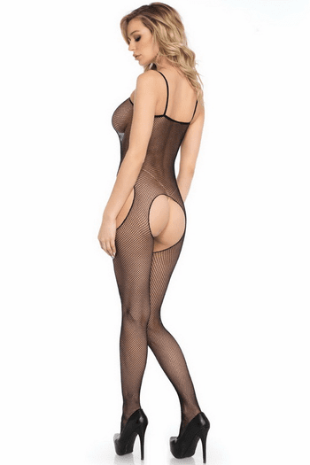 Naughty As Can Be Crotchless Bodystocking