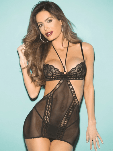 Naughty Girl Versatile Chemise & Thong Set