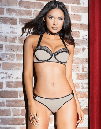 Naughty In Nude Bra & Panty Set