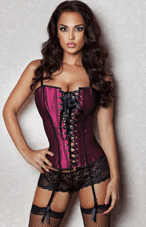 Naughty In The Bedroom Corset And Lace Panty Set