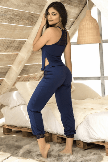 Navy Cami & Pants Set