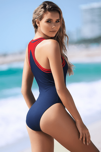 Navy One Piece Swimsuit